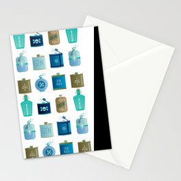 Flask Collection – Blue and Tan Palette Stationery Cards