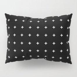 White Plus on Black /// www.pencilmeinstationery.com Pillow Sham