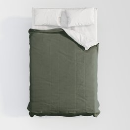 BLACK FOREST dark green solid color  Comforters