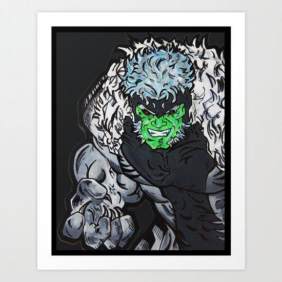 Hulkbuster Sabertooth Art Print