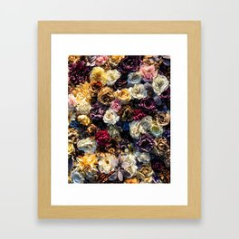 Flower Wall // Full Color Floral Accent Background Jaw Dropping Decoration Framed Art Print