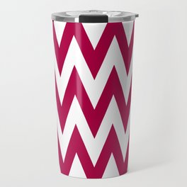Team Spirit Chevron Red and White Travel Mug