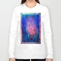 new york map Long Sleeve T-shirts featuring New York map by Bekim ART