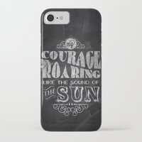 courage iPhone & iPod Cases featuring Courage by JenHoney