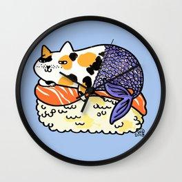 Mer-Kitty Sushi Wall Clock