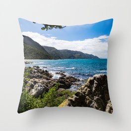 New Zealand Coastal View Throw Pillow