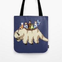 appa Tote Bags featuring The Gaang by NeleVdM