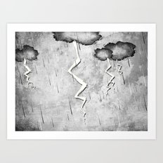 There's a storm a brewin Art Print