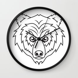 Bravery - B&W Wall Clock