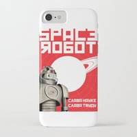 soviet iPhone & iPod Cases featuring Retro Soviet minimalism spacerobot   by Cardula