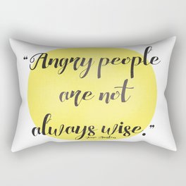 Jane Austen quote Rectangular Pillow