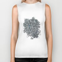 tangled Biker Tanks featuring Tangled  by Natalie Schnitter