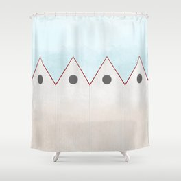 Simple Housing - love them all  Shower Curtain