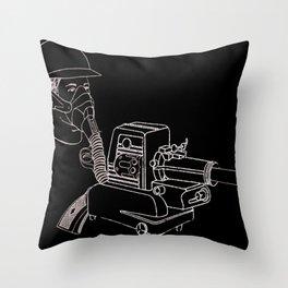 Gasmask Projector                          Throw Pillow