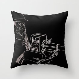 Gasmask Projector                          Throw Pillow