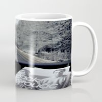 kerouac Mugs featuring On The Road by The Last Sparrow