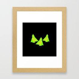 Three little trees Framed Art Print