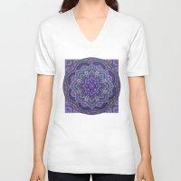 batik V-neck T-shirts featuring Batik Meditation  by DebS Digs Photo Art