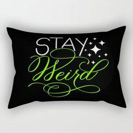Stay Weird (Dark) Rectangular Pillow