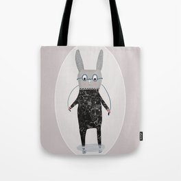 Jumping Jack Cartoon Rabbit, Time for Funny Bunny Jumps Tote Bag