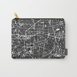 Madrid city map black&white Carry-All Pouch