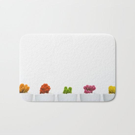 colorful cacti Bath Mat