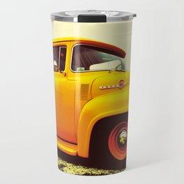 Yellow Ford F-100  Travel Mug