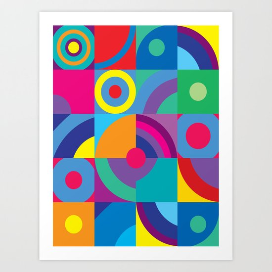 Geometric Figures in color Art Print