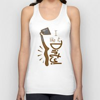 tool Tank Tops featuring Naughty Farm Tool by Artistic Dyslexia