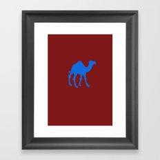 blue camel  Framed Art Print