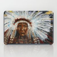 native american iPad Cases featuring Native American by Mary J. Welty
