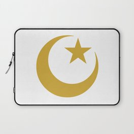 Golden Star & Crescent Laptop Sleeve