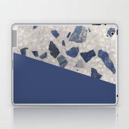 Terrazzo Texture Dark Blue #2 Laptop & iPad Skin