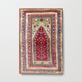 Sivas Central Anatolian Niche Rug Print Metal Print