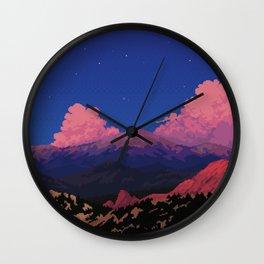 Sunset at Garden of the Gods Wall Clock