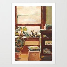 Oscar and Ocho Art Print