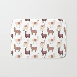 llamas and alpacas Bath Mat