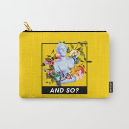 Vaporwave Venus with Flowers Carry-All Pouch