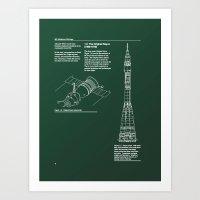 Proton Page Art Print