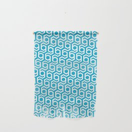 Modern Hive Geometric Repeat Pattern Wall Hanging