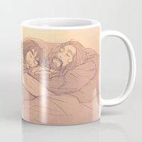 the hobbit Mugs featuring the hobbit - sleeping by Ronnie