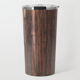 Cherry Stained Wood Barn Board Texture Travel Mug