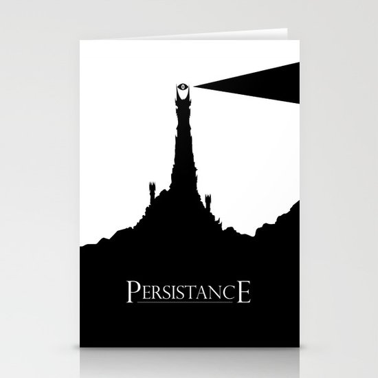 Lord of the Rings Motivational Poster - Persistance Stationery Cards