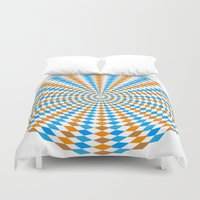 bender Duvet Covers featuring Abstract Mind Bender 2 by Gabriel J Galvan