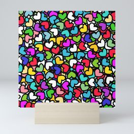 Rainbow LOVE Hearts Mini Art Print