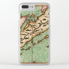 Map Of Sumatra 1657 Clear iPhone Case