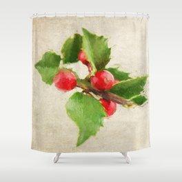 A Holly Jolly Christmas Shower Curtain