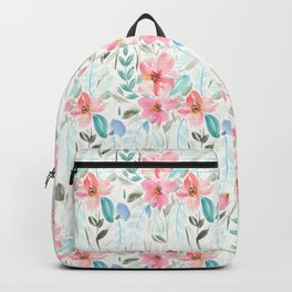 Garden Watercolour Floral Backpack