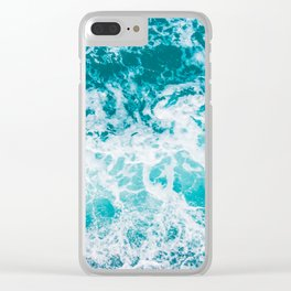 Ocean waves from above Clear iPhone Case