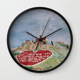 Salvation Mountain God Is Love Wall Clock